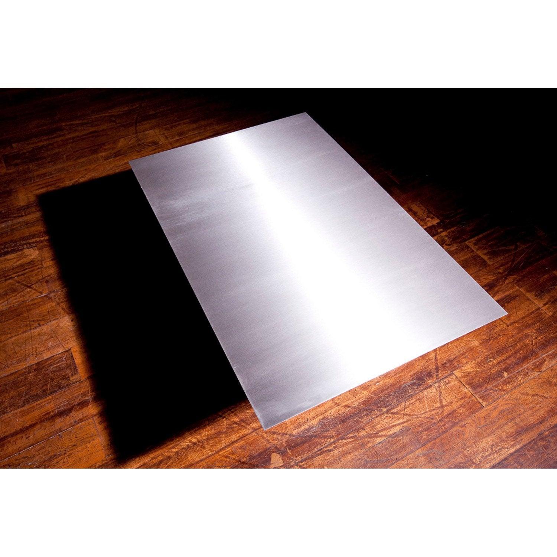 Plaque De Protection Sol Inox Equation L 100 Cm X H 0 2 Cm Leroy