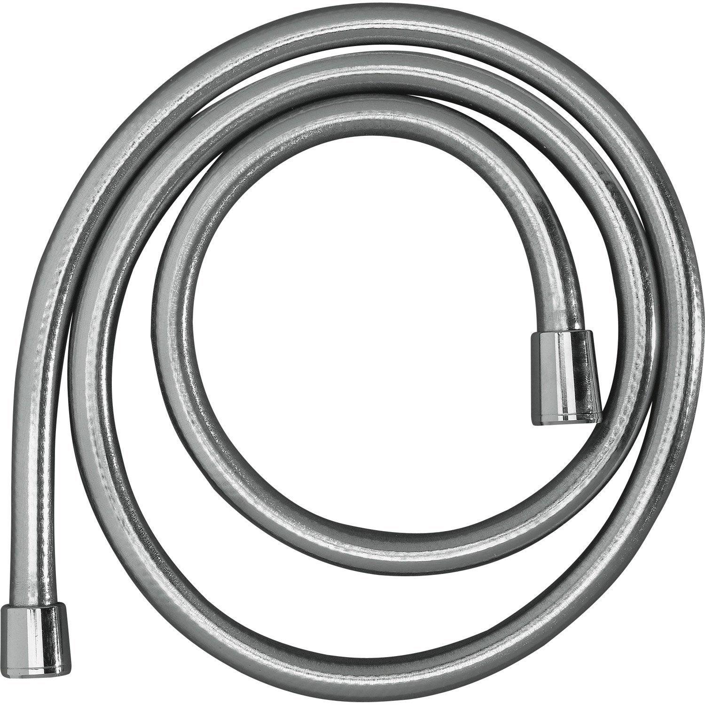 Flexible de douche gris argenté L.150 cm, HANSGROHE Isiflex | Leroy ...