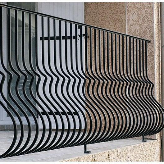 Garde corps pour balcon en fer prépeint Lombarde, haut. 97cm x larg