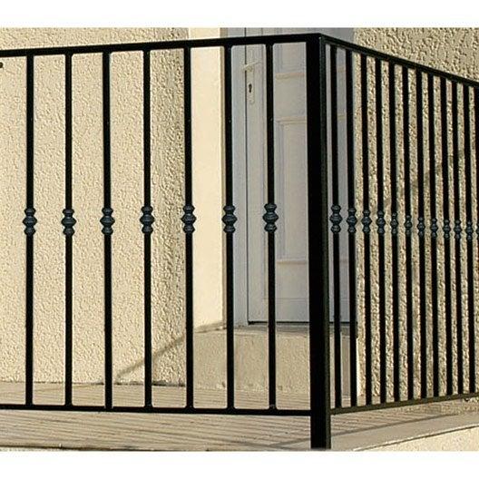 garde corps pour balcon en fer pr peint nordet haut 97cm x larg 146cm leroy merlin. Black Bedroom Furniture Sets. Home Design Ideas