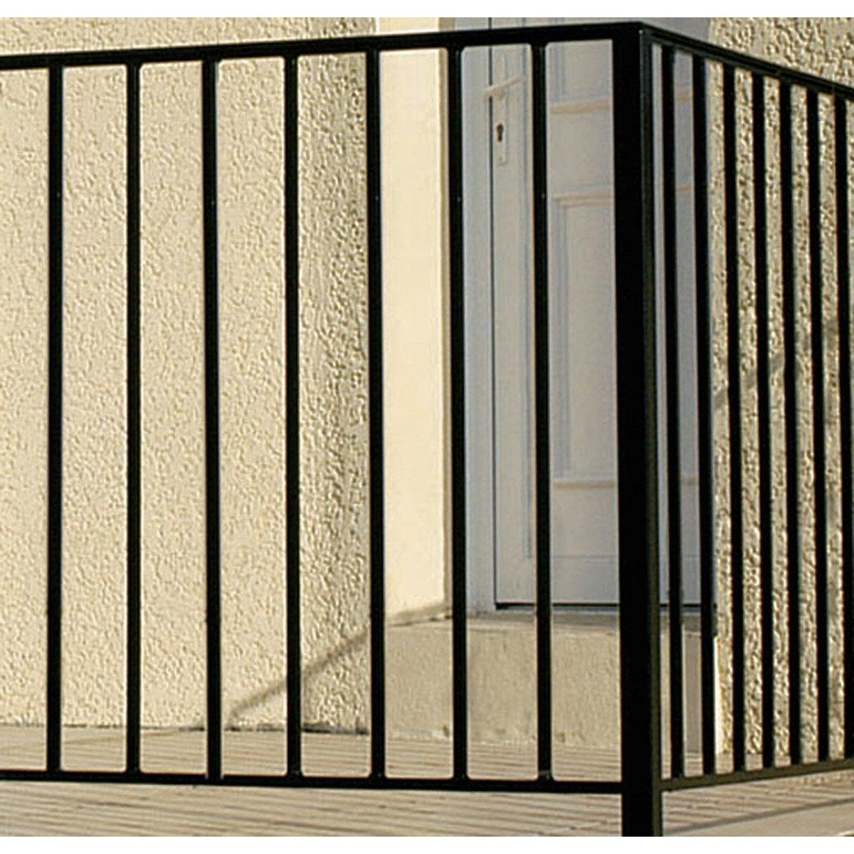 Auvent Balcon destiné garde-corps pour balcon en fer prépeint levant, haut. 97cm x larg
