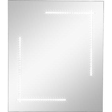 Miroir lumineux rétro-éclairé par LED Clara SENSEA, L.60 x H.70 cm