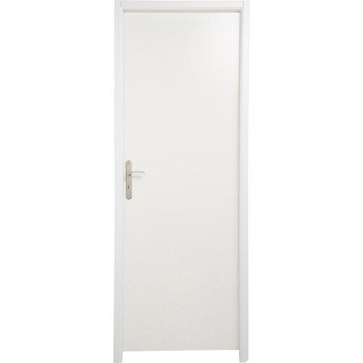 Bloc porte m dium mdf borgo blanc blanc n 0 x cm leroy merlin - Porte interieur blanc laque ...