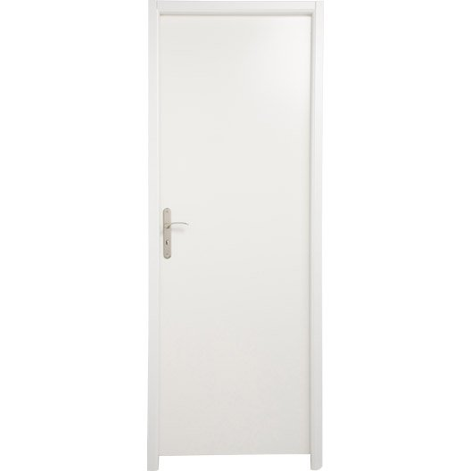 bloc porte m dium mdf borgo blanc blanc n 0 x cm leroy merlin. Black Bedroom Furniture Sets. Home Design Ideas
