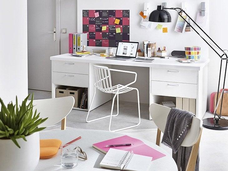 am nager un bureau ind pendant dans un garage leroy merlin. Black Bedroom Furniture Sets. Home Design Ideas