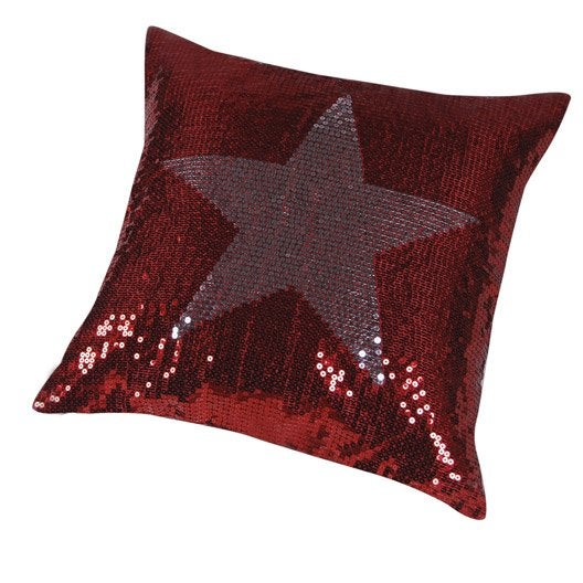 coussin star rouge et gris x cm leroy merlin. Black Bedroom Furniture Sets. Home Design Ideas