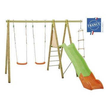 portique balan oire et aire de jeux pour enfants portique maisonnette trampoline et. Black Bedroom Furniture Sets. Home Design Ideas
