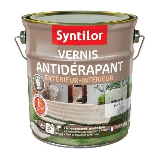 Vernis antid rapant sol ext rieur int rieur syntilor - Peinture sol exterieur antiderapante ...