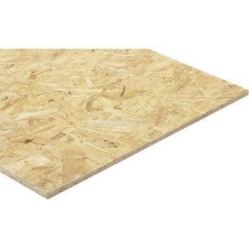 Panneau osb 3 3 plis épicéa naturel, Ep.12 mm x L.280 x l.119.6 cm