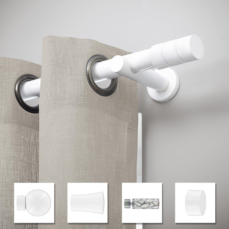 Support tringle à rideau Chic, 28 mm blanc brillant INSPIRE | Leroy ...