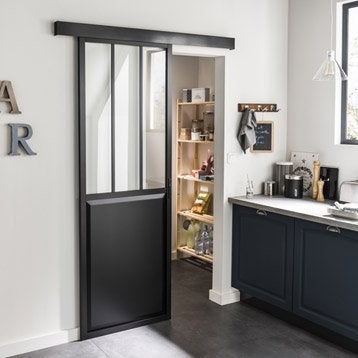 Ensemble porte coulissante porte galandage porte - Porte coulissante de cuisine ...