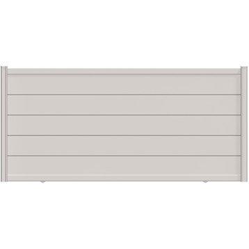 Portail coulissant aluminium Hezo blanc NATERIAL, l.350 cm x H.170 cm