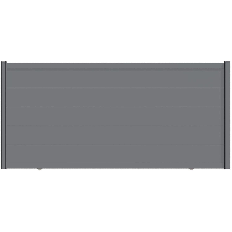 portail coulissant aluminium hezo gris naterial cm x cm leroy merlin. Black Bedroom Furniture Sets. Home Design Ideas