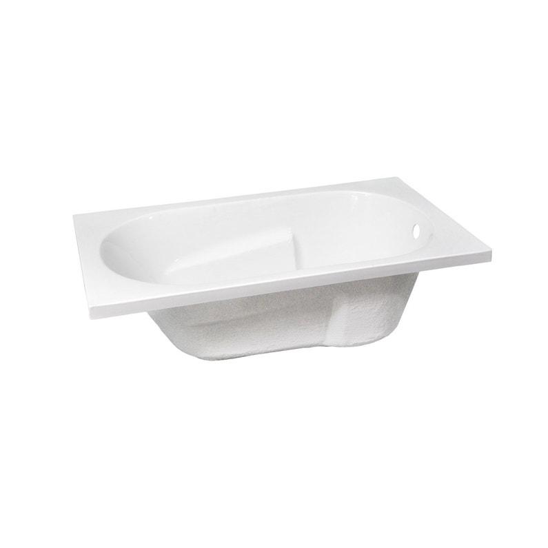 Baignoire Rectangulaire L 120x L 70 Cm Blanc Sensea Access Confort