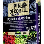 Paillettes d'ardoise PIN DECOR, 20 l