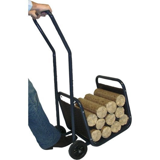 Chariot panier b ches styl 39 b che xpa7126 leroy merlin - Chariot a bois buche ...