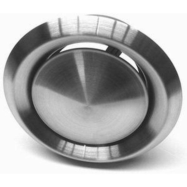 Bouche Du0027aération Inox DMO Encastrement Diam.125 Mm, L.17.5 Cm