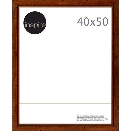cadre saranca 40 x 50 cm marron leroy merlin. Black Bedroom Furniture Sets. Home Design Ideas