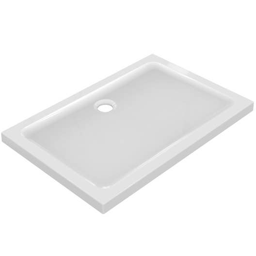 Receveur de douche rectangulaire x cm gr s blanc idealsmart leroy merlin - Receveur de douche 80 120 ...