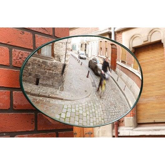 miroir de sortie convexe ovale mottez 34x56 cm leroy merlin. Black Bedroom Furniture Sets. Home Design Ideas