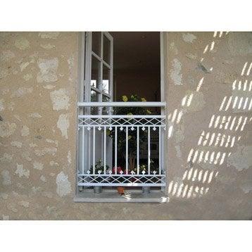 Garde corps et barre d 39 appui rambarde rampant fer leroy merlin - Garde corps balcon lapeyre ...