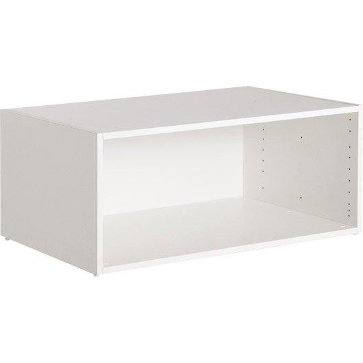 Etag re grande profondeur spaceo interior blanc l80 x h35 x p56cm leroy merlin - Dressing grande profondeur ...