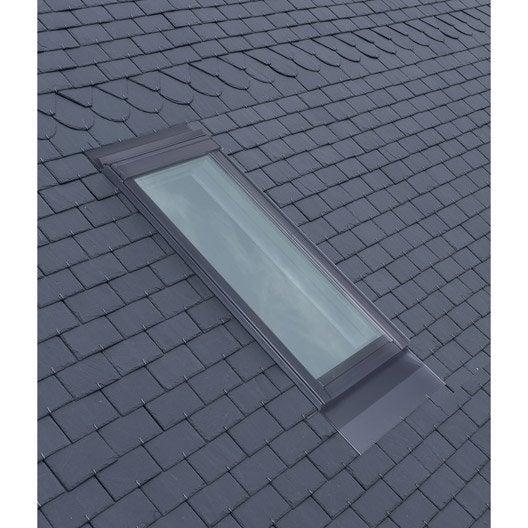 Raccord pour fen tre de toit velux el ck02 gris leroy for Habillage fenetre de toit
