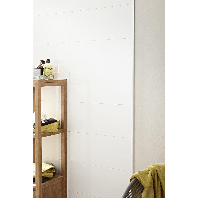 profil de d part et finition pour lambris pvc 2 8 x 1 2 cm l 2 6 m leroy merlin. Black Bedroom Furniture Sets. Home Design Ideas