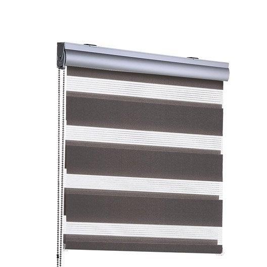 store enrouleur jour nuit coffre alu inspire brun taupe n 3 60x210 cm l. Black Bedroom Furniture Sets. Home Design Ideas