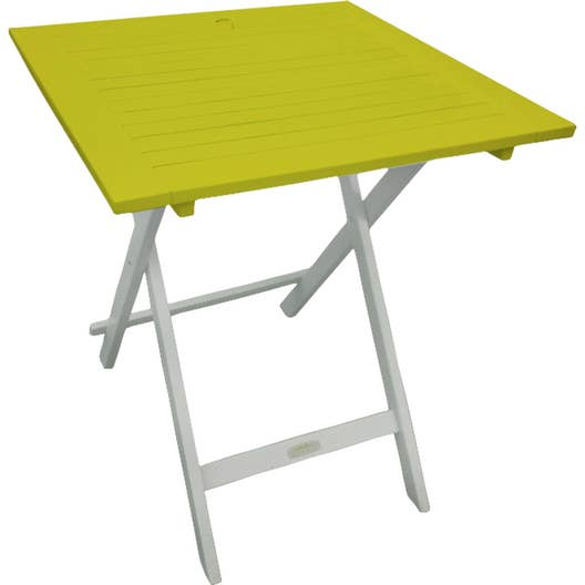 table de jardin city green burano carr e vert 2 personnes. Black Bedroom Furniture Sets. Home Design Ideas