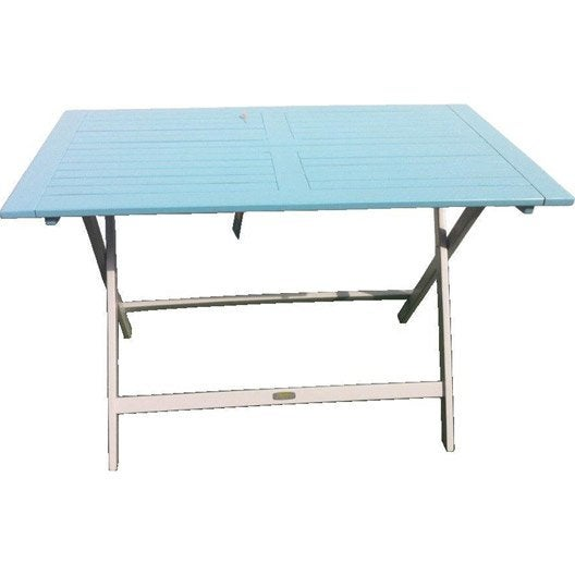 table de jardin city green burano rectangulaire bleu 4. Black Bedroom Furniture Sets. Home Design Ideas