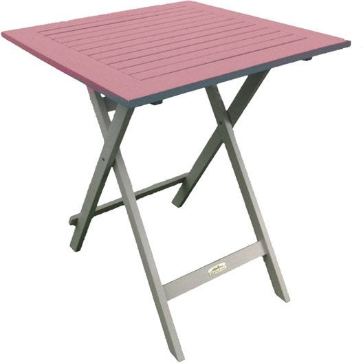 Table de jardin city green burano carr e rose 2 personnes - Table de jardin 2 personnes ...
