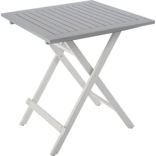 table de jardin city green burano carr e gris 2 personnes leroy merlin. Black Bedroom Furniture Sets. Home Design Ideas