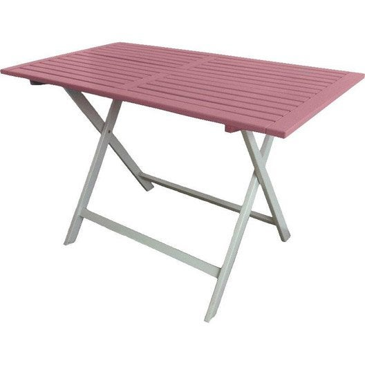 Table de jardin city green burano rectangulaire rose 4 - Table jardin rose ...