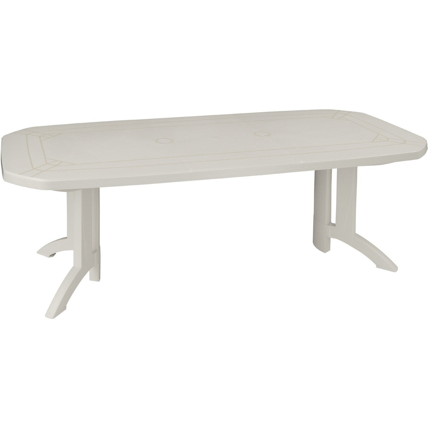Table de jardin GROSFILLEX Véga rectangulaire blanc 10 personnes ...