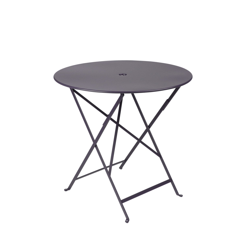 Table de jardin de repas FERMOB Bistro ronde prune 2 personnes