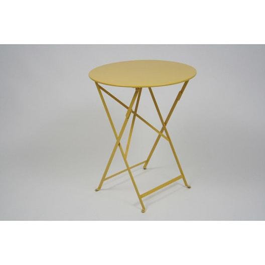table de jardin fermob bistro ronde miel 2 personnes. Black Bedroom Furniture Sets. Home Design Ideas