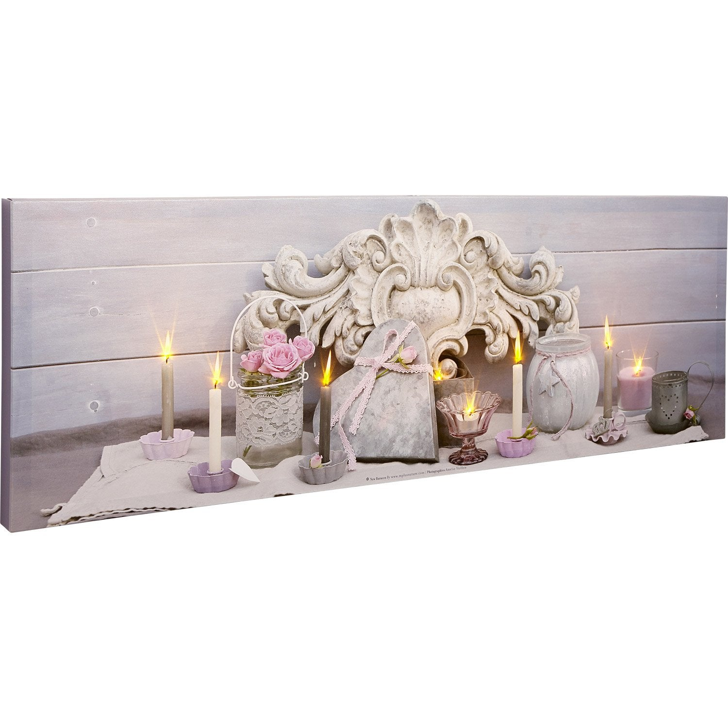 awesome toile led coeur roses roses bougies pots x cm with pot lumineux exterieur leroy merlin. Black Bedroom Furniture Sets. Home Design Ideas