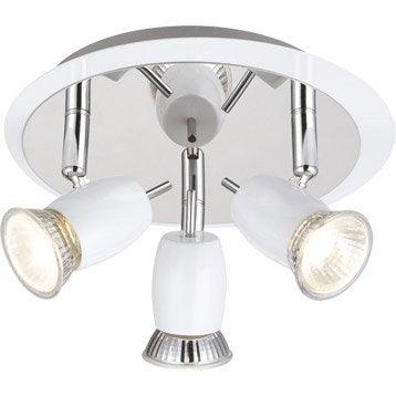 Plafonnier 3 spots sans ampoule, 3 x GU10, blanc Kora BRILLIANT