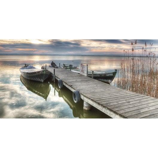 Toile led ponton et barques x cm leroy merlin for Encadrement tableau leroy merlin