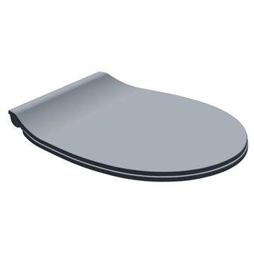 Abattant frein de chute déclipsable gris plastique thermodur, DUBOURGEL Push'n c