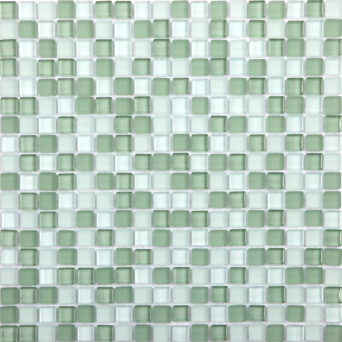Mosaïque mur Glass vert   Leroy Merlin