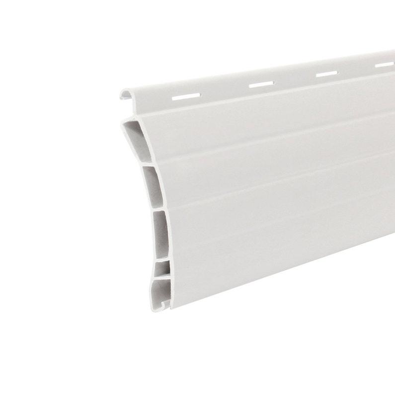 Lot De 4 Lames De Tablier En Pvc Blanc Haut 55mm Long 2 50m