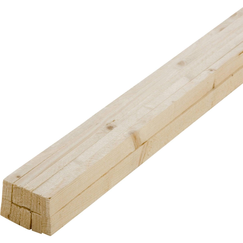 Lot De 10 Tasseaux Sapin Petits Noeuds Brut 27x13 Mm Long 200cm