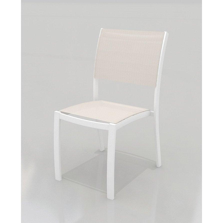 Chaise de jardin en aluminium Tarragona taupe | Leroy Merlin