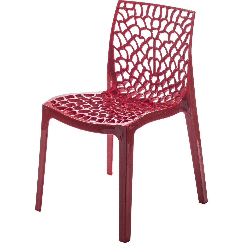 Chaise De Jardin En Rsine Grafik Rouge