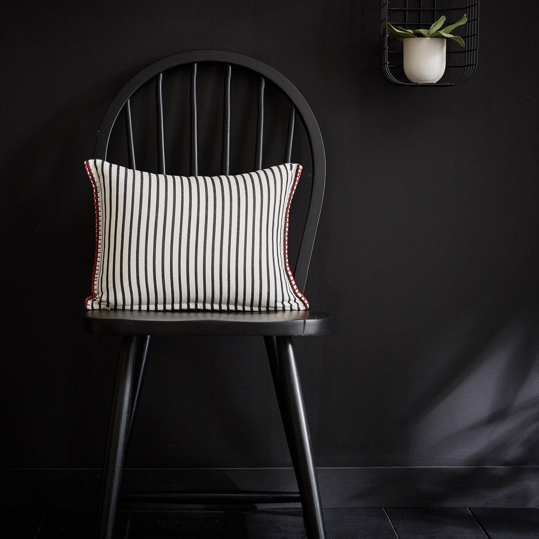 Coussin Koshi INSPIRE, noir / écru l.40 x H.30 cm