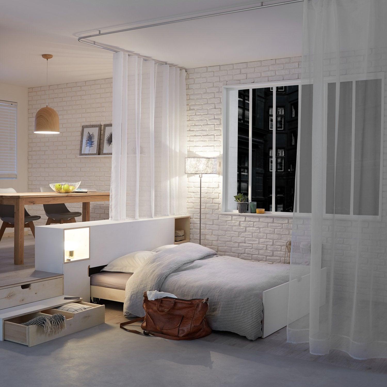 Une chambre adulte aux teintes de bleu et au style for Style chambre adulte