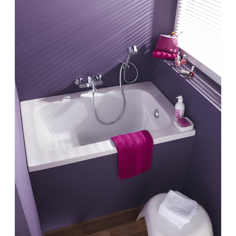 baignoire rectangulaire l.105x l.70 cm blanc, ideal standard sabot