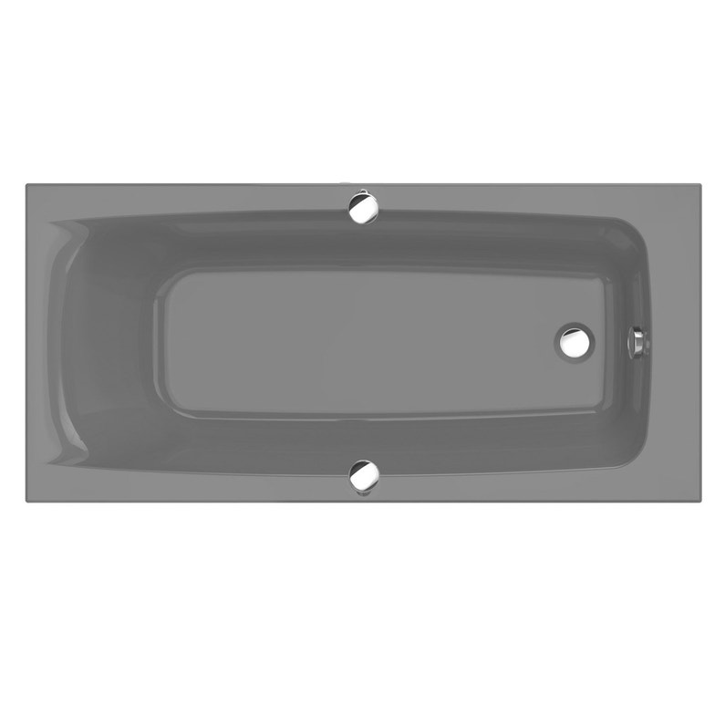 Baignoire Rectangulaire L 170x L 75 Cm Gris Ideal Standard